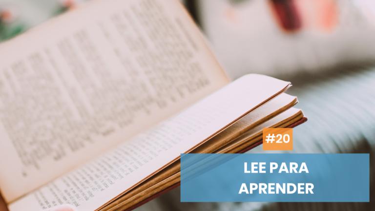 Copymelo #20: Lee para aprender