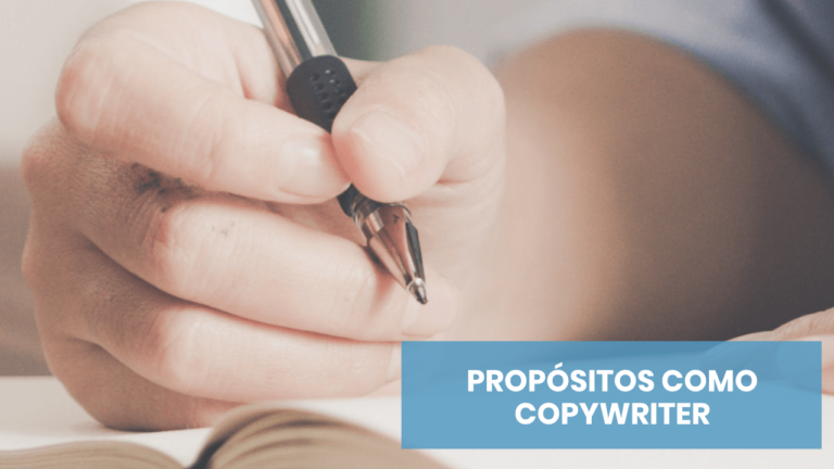 ¿Cómo van esos propósitos como copywriter?
