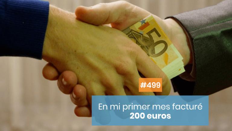 💰 En mi primer mes facturé 200 euros