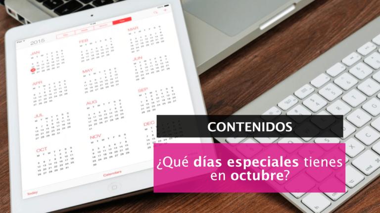 [Calendario] ¿Qué días especiales hay en octubre?